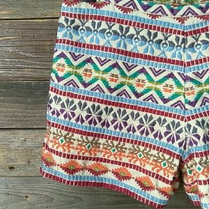 Stetson cotton tribal boho patterned shorts